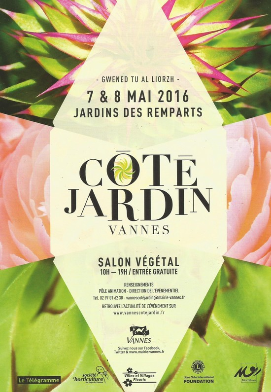 Vannes c t jardin 11 me dition les 7 et 8 mai vannes for Cote jardin vannes 2015